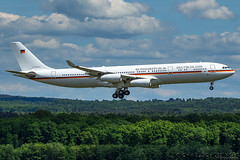 16+01 - Airbus A340-313 - German Air Force (MikeSierraPhotography) Tags: air airport cgn cgneddk cologne country deutschland germany köln spotting town