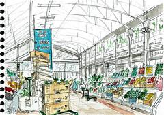 Mercado da Ribeira, Lisboa (Croctoo) Tags: croctoo croquis croctoofr aquarelle watercolor marché légumes ville lisbonne lisboa