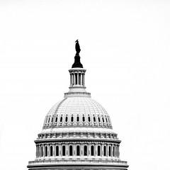 "Statue of ""Freedom"" (btusdin) Tags: 7daysofshooting week46 silhouette blackandwhitewednesday"