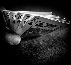 TheThirdMan (Jack Blackstone) Tags: 7dwf closeupormacro flickrfridays stilllife thethirdman poker threeandtwoofakind fullhouse blackandwhite