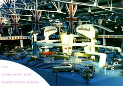 1949 GM Exhibit, Canadian National Exhibition (aldenjewell) Tags: 1949 gm general motors exhibit canadian national exhibition auto show chevrolet pontiac oldsmobile buick cadillac gmc photo