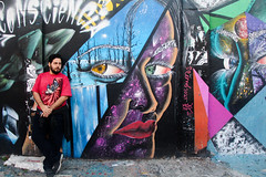 Love (Andreza Menezes) Tags: sãopaulo amor becodobatman cores comida viagem amigos love colors food travel friends felicidade happiness homus falafel lula sanduiche arte artederua grafitagem grafite squid sandwich art streetart graffiti