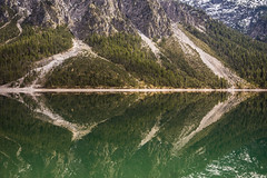 Mountain reflection (hjuengst) Tags: landschaftennatur plansee see lake tyrol austria reflection mirror mountain symmetry forest woods