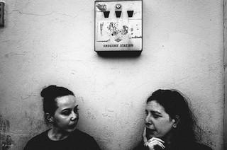 smoker's station