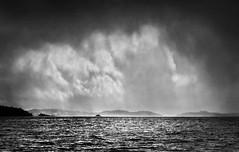Loch Lomond sky (lesley1556) Tags: blackandwhite bw monochrome sony sonya550 lochlomond scotland clouds moodysky loch water