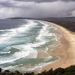 _DSC6293-sq copy (2careless) Tags: tallowbay byronbay capebyron nsw waves sandy beach rainclouds people sony a7r2 contax zeiss 3570mm mt