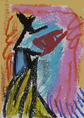 Woman (Zntt) Tags: art life arte colors cubism woman cores collori beaty fineart oil oilpastel pastel pastels blue pink yellow canvas study night noite azul amarelo painting
