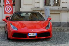 Ferrari 488 Spider (an4cron) Tags: auto 2017 tettonero motor 488 car ferrari torino parcodelvalentino salone show cars coffee spider rht retractile hard top tetto retrattile