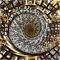 Frame of Mind (Ross Hilbert) Tags: fractalsciencekit fractalgenerator fractalsoftware fractalapplication fractalart algorithmicart generativeart computerart mathart digitalart abstractart fractal chaos art mandelbrotset juliaset mandelbrot julia orbittrap metal sculpture spiral copper brass steel