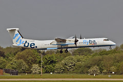 G-ECOC DHC-8Q 402 Flybe MAN 11-05-17 (PlanecrazyUK) Tags: egcc manchester man ringway manchesterairport gecoc dhc8q402 flybe 110517