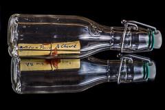 Message In A Bottle (dietmar-schwanitz) Tags: flasche bottle nachricht message messageinabottle flaschenpost glas papier paper spiegelung reflections focusstacking heliconfocus dörr nikond750 nikonafsnikkor24120mmf40ged lightroom dietmarschwanitz