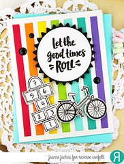 Let The Good Times Roll (akeptlife) Tags: reverseconfetti card cardmaking stamping stamp papercrafting hopscotch bicycle bike rollin verticalstripescoverpanel