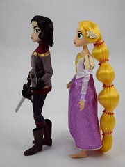 Rapunzel and Cassandra Doll Set - Tangled: The Series - Disney Store Purchase - Deboxed - Free Standing - Full Right Side View (drj1828) Tags: us disneystore tangled tangledtheseries doll 2017 purchase posable 10inch 2d deboxed rapunzel cassandra