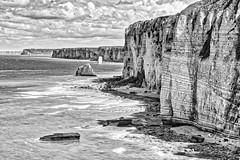 Etretat (Bruno MATHIOT) Tags: hdr noiretblanc monochrome mono black bw nb white eau ocean plage 760d france french beach sigma 1770