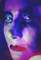 Draw (One-Basic-Of-Art) Tags: canon camera 1basicofart onebasicofart anne woyand annewoyand self ich me moi selfportrait portrait porträt edit bearbeitet geheimnisvoll mystisch mystery grauzone blue lila violet rose pink blau color colour fabe bunt