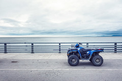 In front of the Arctic Ocean (ExceptEuropa) Tags: 4wheelmotorcycle alaska arcticocean chukchisea kotzebue sonyrx100 sonyrx100m2 color fieldtrip flight landscape motorcycle nature photographer photography roadtrip sky sony travel traveler