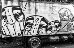 Gats and Logo (Thomas Hawk) Tags: america bayarea california eastbay gats logo oakland usa unitedstates unitedstatesofamerica westcoast bw graffiti fav10