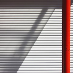 Open curtain (Andrea Kennard) Tags: wall background warehouse building architecture modern empty industrial abstract design exterior texture metal white gray factory textured detail light urban industry construction room structure facade storage metallic
