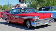 1958 Oldsmobile 88 (crusaderstgeorge) Tags: crusaderstgeorge cars classiccars classicamericancars classicamericaninsweden redcars red 1958oldsmobile88 1958 oldsmobile 88 sweden sverige sandviken americancars americanclassiccars arenawheels chrome