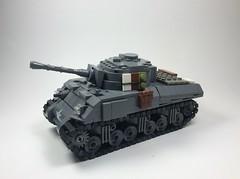M4a3 late war Sherman (mjbricks(flose master)) Tags: lego tank sherman ww2 brickarms