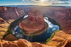 Round the bend (Ian Allon) Tags: page arizona unitedstates us horseshoebend coloradoriver desert river sunset landscape hdr