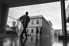 At the Acropolis museum (tzevang.com) Tags: bw museum acropolis street greece