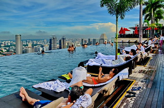 Enjoying Singapore Skyline
