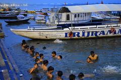 Varanasi, bathing and swimming in the Ganges (7) (walterkolkma) Tags: varanasi india ganges ganga swimming bathing streetphotography hinduism nikond5500