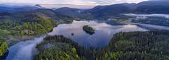 Loch Ard Panorama (J McSporran) Tags: scotland trossachs lochlomondandtrossachsnationalpark lochard kinlochard benlomond eileangorm crannag crannog landscape panorama morning morningmist