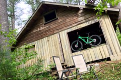 Hidden in the woods (DjD-567) Tags: bearbrookstatepark nh fallingapart weathered woods cabin mountainbiking trek stache7 green