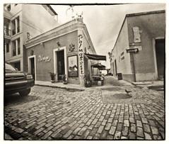 Palmas Rest. (Black and White Fine Art) Tags: pinhole214x214 pinhole3mm niksilverefexpro2 lightroom3 sanjuan oldsanjuan viejosanjuan puertorico camarasestenopeicas estenopo