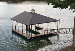 PWC Slip Dock with a Hip Roof