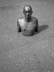Antony Gormley (Dell's Pics) Tags: edinburgh scotland scottishnationalgalleryofmodernart scottish national gallery modern art monotone bw blackandwhite black white sculpture antony gormley olympus omd em5