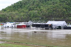 Between Saturday and Monday, the Holston River got bigger (Hazboy) Tags: hazboy hazboy1 tennessee bristol motor speedway auto car racing nascar food city 500 monster series april 2017 race racetrack