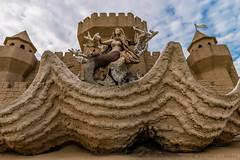 The Mermaid on South Padre Island (Facundity) Tags: texas padreisland wideangle sandcastle mermaid gulfcoast spadreisland