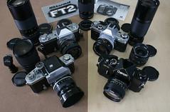 Nikon Vs Canon (orzalana69) Tags: nikon f photomic t slr canon f1 ae1 nikkormatft2 nikkormat nikkor fd lenses japanese film slrs vintage classic cameras popular historic vs