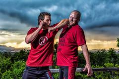 Playing With Krav Maga (Daniel Medley) Tags: krav maga reborn salt lake city utah portrait spar fight sunset flash nikon d5200