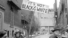 It's Not Black & White (Seattle's March for Science) (jfearer_photo) Tags: 500px 35mm street film black white city urban washington trix kodak seattle minolta march protest 400 d76 bw for science push development picket sign