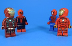 Like Looking Into a Mirror (MrKjito) Tags: lego minifig super hero comic comics marvel iron man spider mirror universe different cinematic