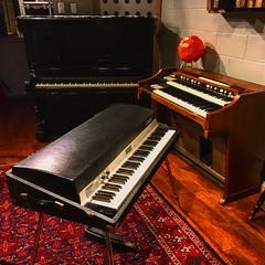 Keyboard Family (Pennan_Brae) Tags: vintageinstruments vintageinstrument musicstudio uprightpiano music recording recordingstudio musicphotography hammondorgan hammondb3 fenderrhodes keyboard keyboards percussion piano organ electricpiano