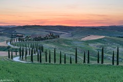 Dusk - Baccoleno (Captures.ch) Tags: 2017 baccoleno black blue brown capture clouds cypresses dusk farm gray green hills house italy landscape may nature olives orange red sky spring sunrise sunset trees tuscany valdorcia white wine
