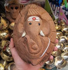 IMG_42271 (Manveer Jarosz) Tags: amritsar bharat ganapati ganesha ganpati hindu hindustan incredibleindia india punjab shreedurgianatirath art coconut elephant mandir religious sculpture shop shopping temple