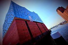 Germany, Hamburg (ClaDae) Tags: germany building architecture harbor hamburg elbphilharmonie by herzogdemeuron travel europe modern concerthall landmark deutschland blue fujifilm tx20