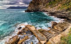 Corniglia #1 (LinusVanPelt ) Tags: rocks corniglia gdg liguria 5terre landscape nature sea