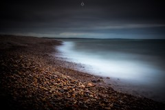 Mounded Up (Augmented Reality Images (Getty Contributor)) Tags: canon clouds coastline colours landscape leefilters littlestopper longexposure morayfirth pebbles rocks scotland speybay water waves