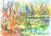 SOLEDADES (GARGABLE) Tags: nudes soledad angelbeltrán apuntes drawings dibujos colores fusión naturaleza gargable