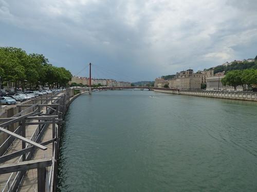Pont Maréchal Juin - River Saône, Lyon - Passerelle du Palais de Justice