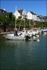 Port du Bono (Bretagne, Morbihan, France) (bobroy20) Tags: lebono port pont pontsuspendu voilier rivièredubono rivière eau water bretagne brittany village morbihan semainedugolfe2017 nautisme france auray
