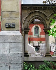 Montreal Diocesan Theological College (5of7) Tags: montrealdiocesantheologicalcollege arch montreal building architecture detail architecturaldetail brick stone naturalframing frame urban mdtc anglican theological college founding school theology mcgill university nopeople outdoor 3475 number column window fav 9fav
