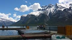 Lake Minnewanka (digital_lightexpress) Tags: lake lakeside pier dock canadianrockies banffnationalpark boats mountain lakeminnewanka banff
